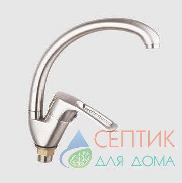 Смеситель для кухни с боковой ручкой, латунный, никель EDENY E15209В