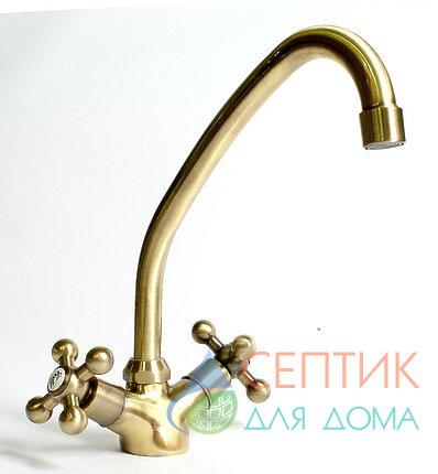 Смеситель для кухни вентильный,бронза  EDENY E1501C