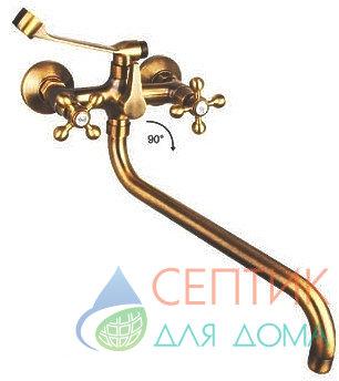 Смеситель для ванны, латунный. бронза EDENY E1507C