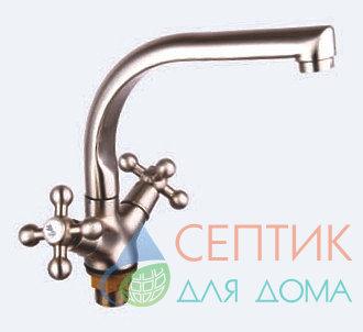 Смеситель для кухни вентильный.латунь никель EDENY E1508А