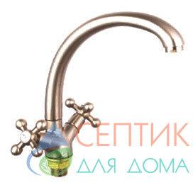 Смеситель для кухни вентильный.латунь никель EDENY E1509A