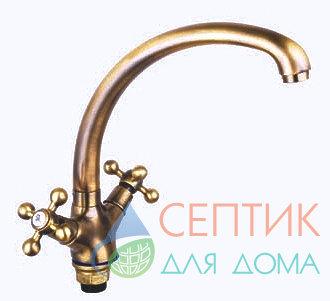 Смеситель для кухни вентильный.латунь бронза EDENY E1509С