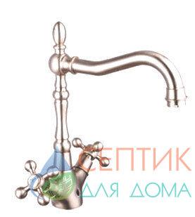 Смеситель для кухни вентильный.латунь никель EDENY E1552А