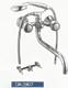 Смеситель для ванны/душа DoKorona DK-2807